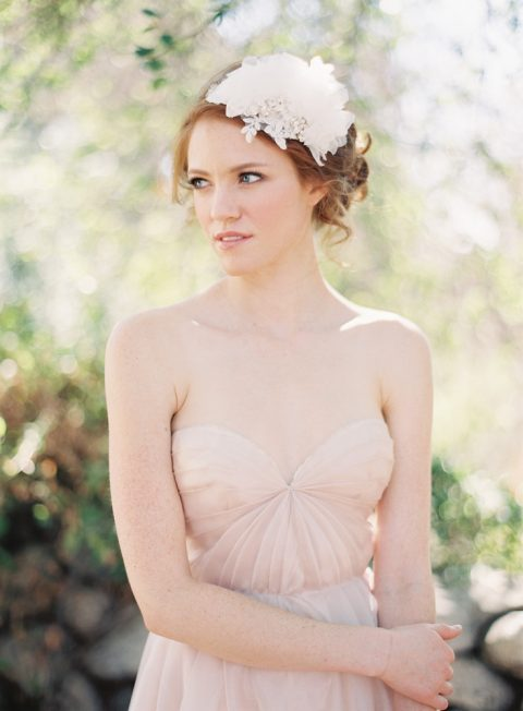 Style 213 Chiffon Petal Bridal Headband - © SIBO Designs Bridal Adornments & Veils
