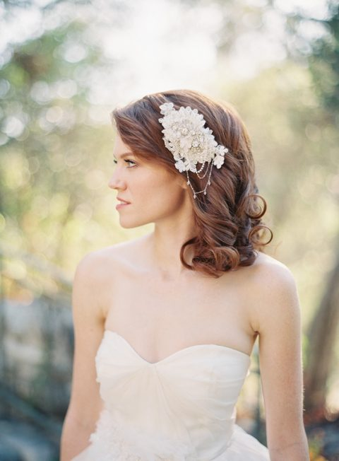 Style 215 Crystal Vintage Inspired Bridal Hair Comb - © SIBO Designs Bridal Adornments & Veils