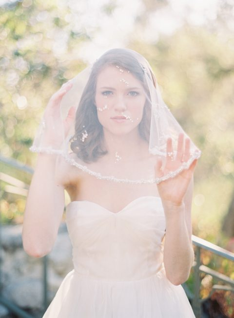 Style 201 Crystal Blusher Veil - © SIBO Designs Bridal Adornments & Veils