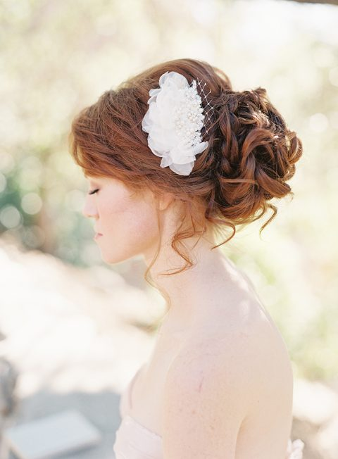 SIBO Designs 2013 Collection Unveiled - Beaded Chiffon Petal Bridal Hair Comb - Style 202