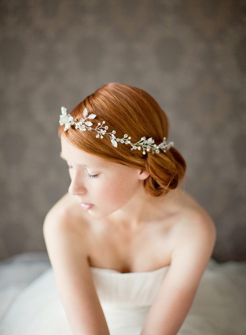 Breathless - Crystal and Pearl Bridal Hair Vine - © SIBO Designs Bridal Adornments & Veils
