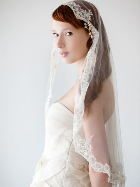 Everlasting Love Mantilla Veil - © SIBO Designs Bridal Adornments & Veils
