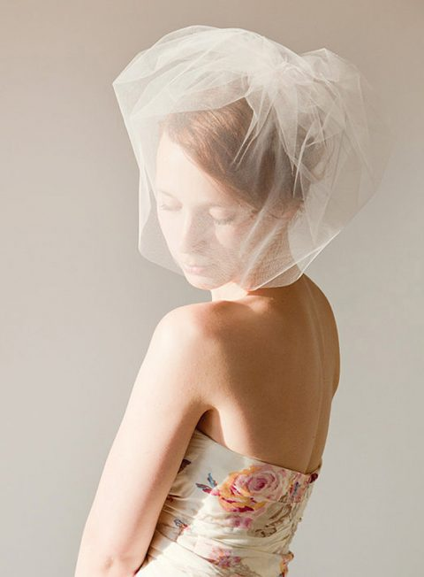 Touch of Sweetness - Tulle Bubble Birdcage Veil - © SIBO Designs Bridal Adornments & Veils