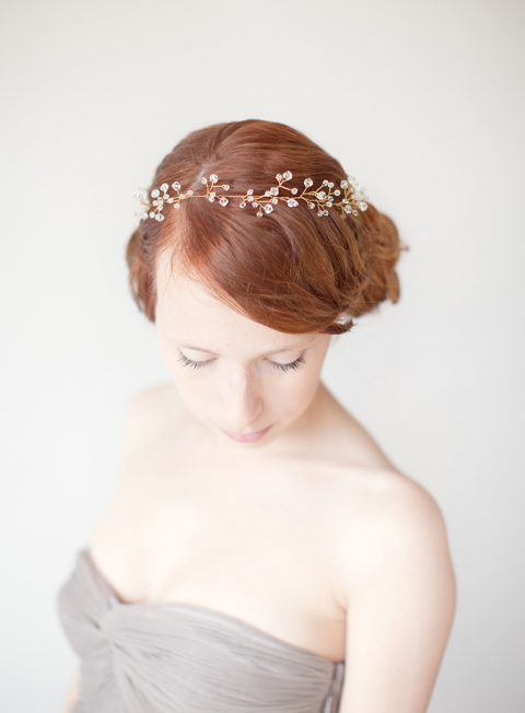 Untamed - Crystal Bridal Hair Crown - © SIBO Designs Bridal Adornments & Veils