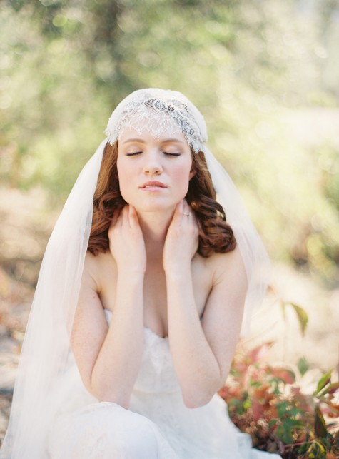 SIBO Designs Bridal Juliet Cap Veil - Style 219 - Photography by Caroline Tran