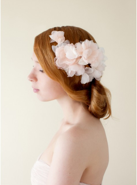 Silk Flower Bridal Hair Combs