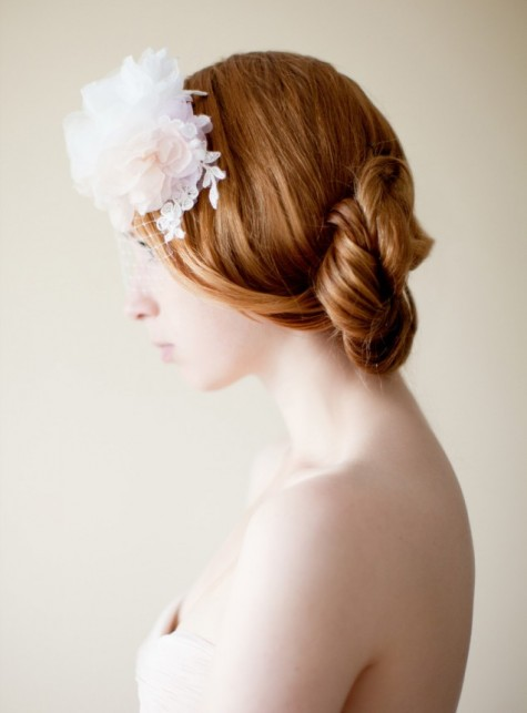 Bridal Veil Silk Flower Adornment