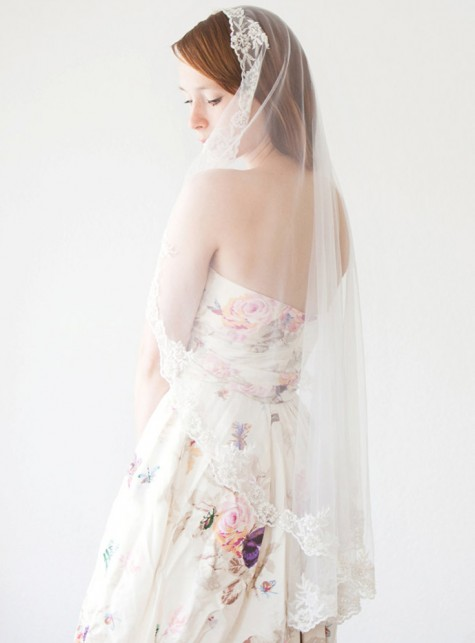 SIBO Designs | Everlasting Love Mantilla 40""