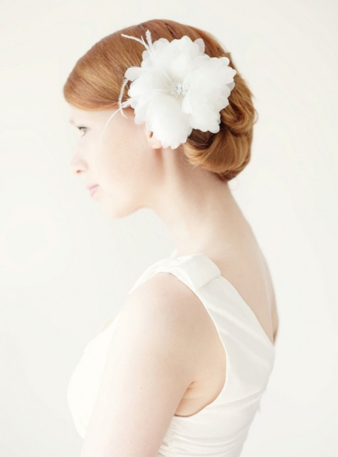 SIBO Designs Bridal Headpiece - Finely Feathered