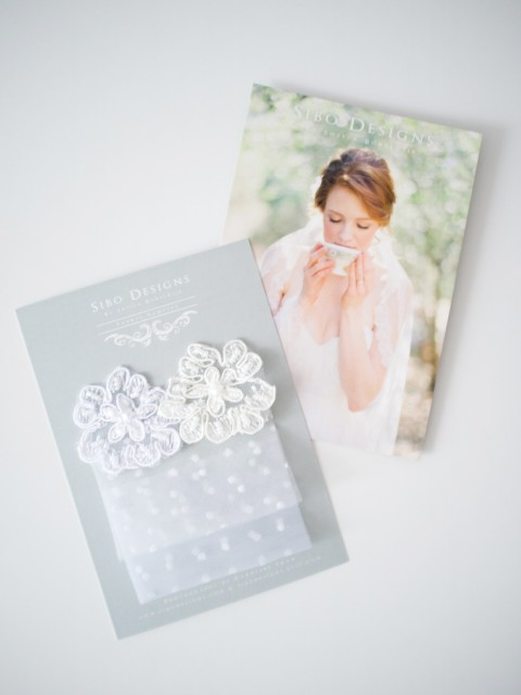 "SIBO Designs ""Allure"" Polka dot Veil Sample"
