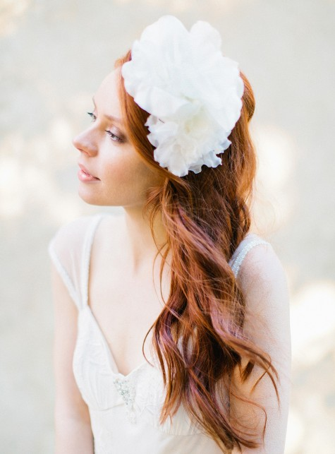 Silk Flower bridal Headband