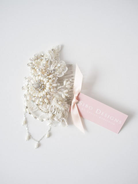 Pearl Crystal Hair Comb