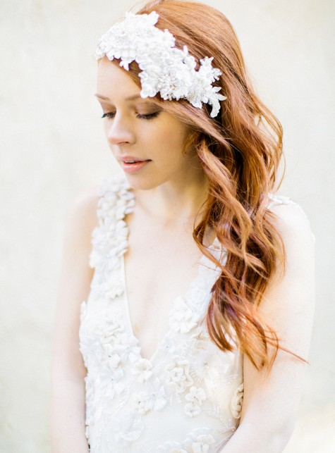 Crystal Lace Flapper Headpiece