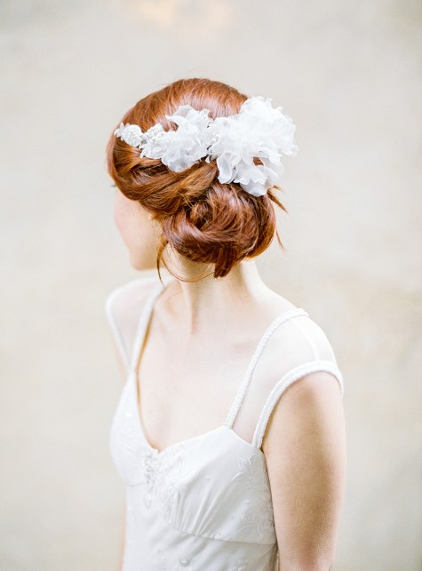 Beaded Lace Silk Petal Headpiece