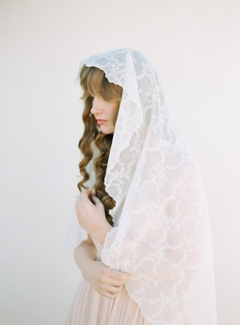 SIBO Designs 2015 Windswept Collection - Style 404 Cotton Voile Bridal Veil