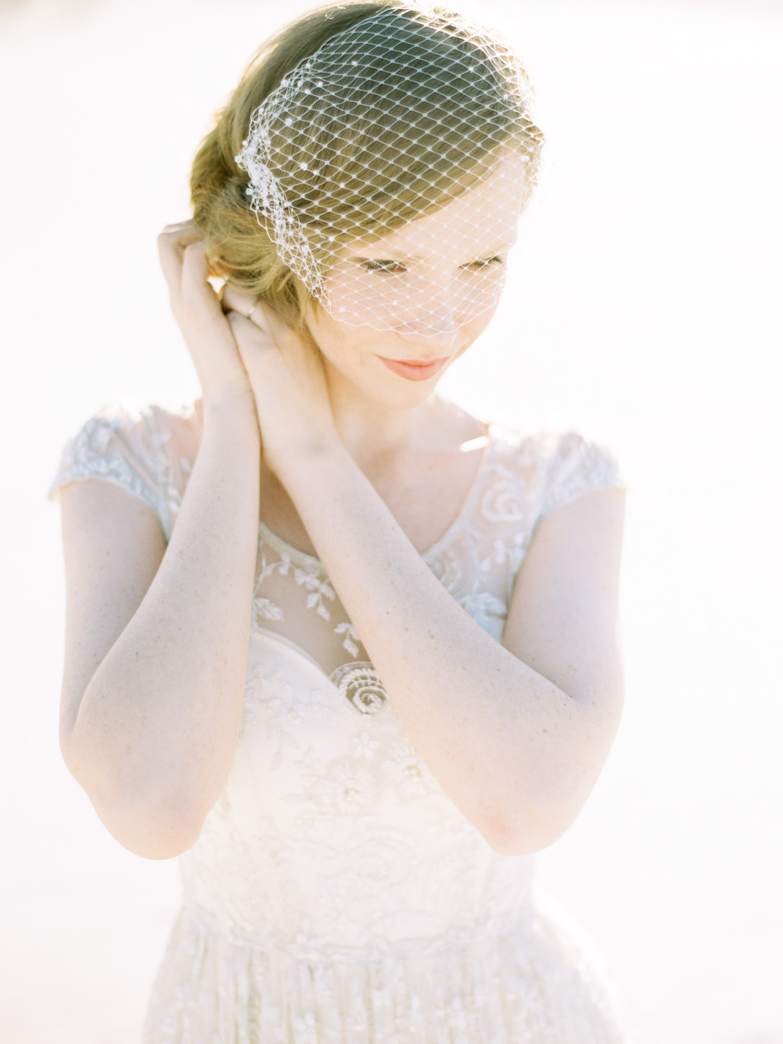how to make a birdcage veil with two combs