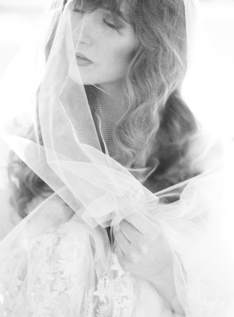 SIBO Designs 2015 Windswept Collection - Style 401 Embroidered Chapel Length Veil