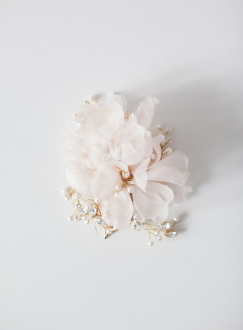 SIBO Designs 2015 Windswept Collection - Style 412 Silk Flower Hair Comb