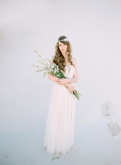 SIBO Designs 2015 Windswept Collection - Style 413 Bohemian Crystal and Lace Flower Hair Vine