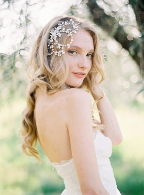 Style 503 - Vintage Inspired Crystal Bridal Headpiece - © SIBO Designs Bridal Adornments & Veils