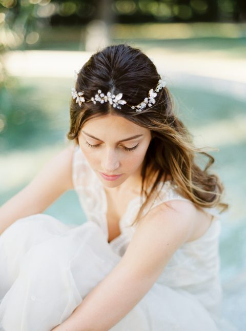 Style 515 - Crystal Bridal Hair Vine - © SIBO Designs Bridal Adornments & Veils