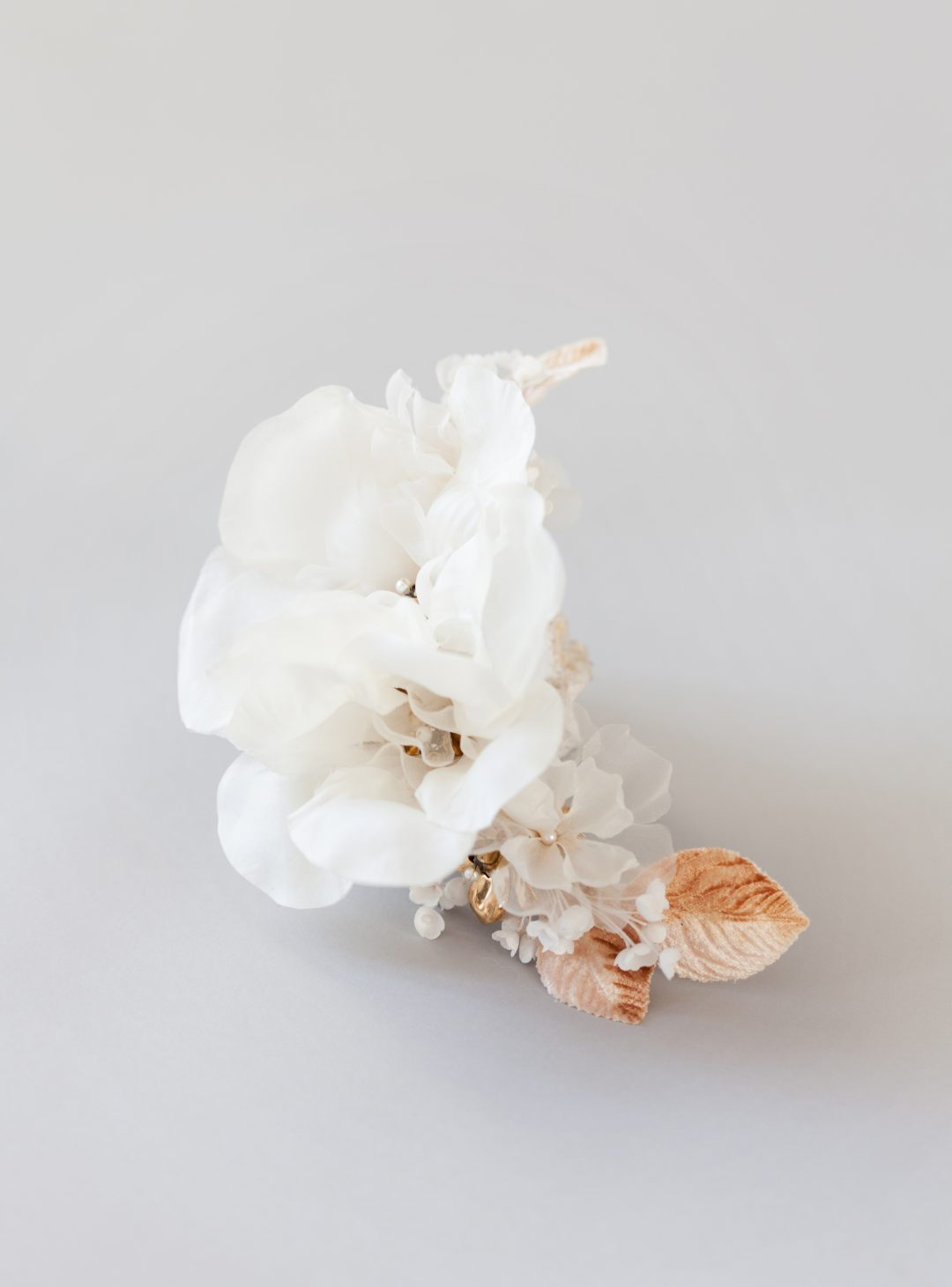 Style 606 - Silk Flower Hair Comb - © SIBO Designs Bridal Adornments & Veils