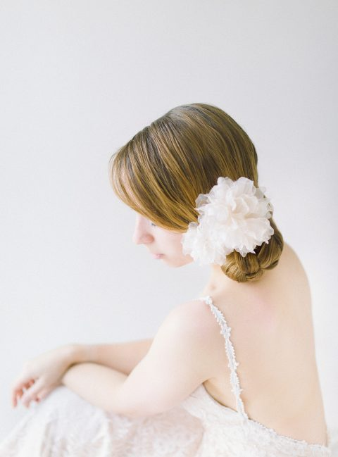 Style 610 - Blush Silk Hair Pins - © SIBO Designs Bridal Adornments & Veils