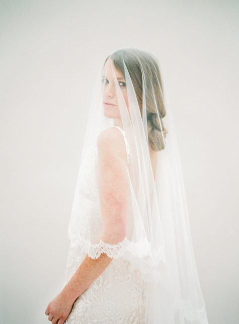 Style 614 - Lace Blusher Veil - © SIBO Designs Bridal Adornments & Veils