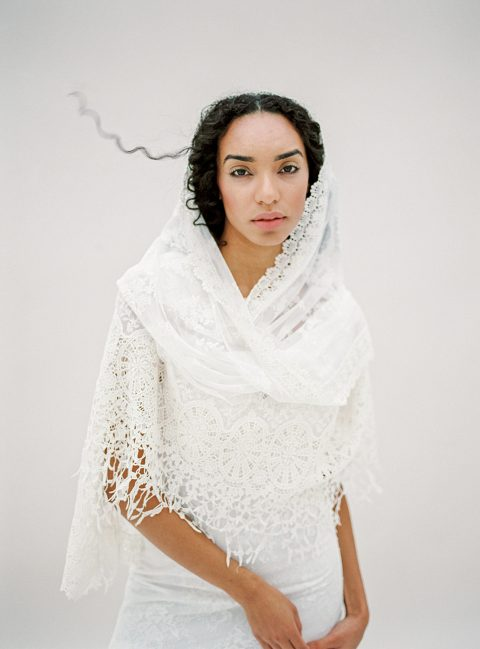 Style 615 - Lace Mantilla Veil - © SIBO Designs Bridal Adornments & Veils