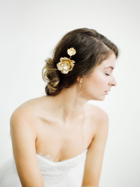 "SIBO Designs 2018 Collection - ""Style 703"" Modern Floral Bridal Headpiece www.sibodesigns.com"