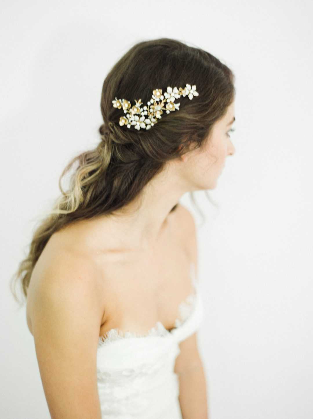 """SIBO Designs 2018 Collection - """"Style 705"""" Crystal Floral Bridal Headpiece www.sibodesigns.com"""