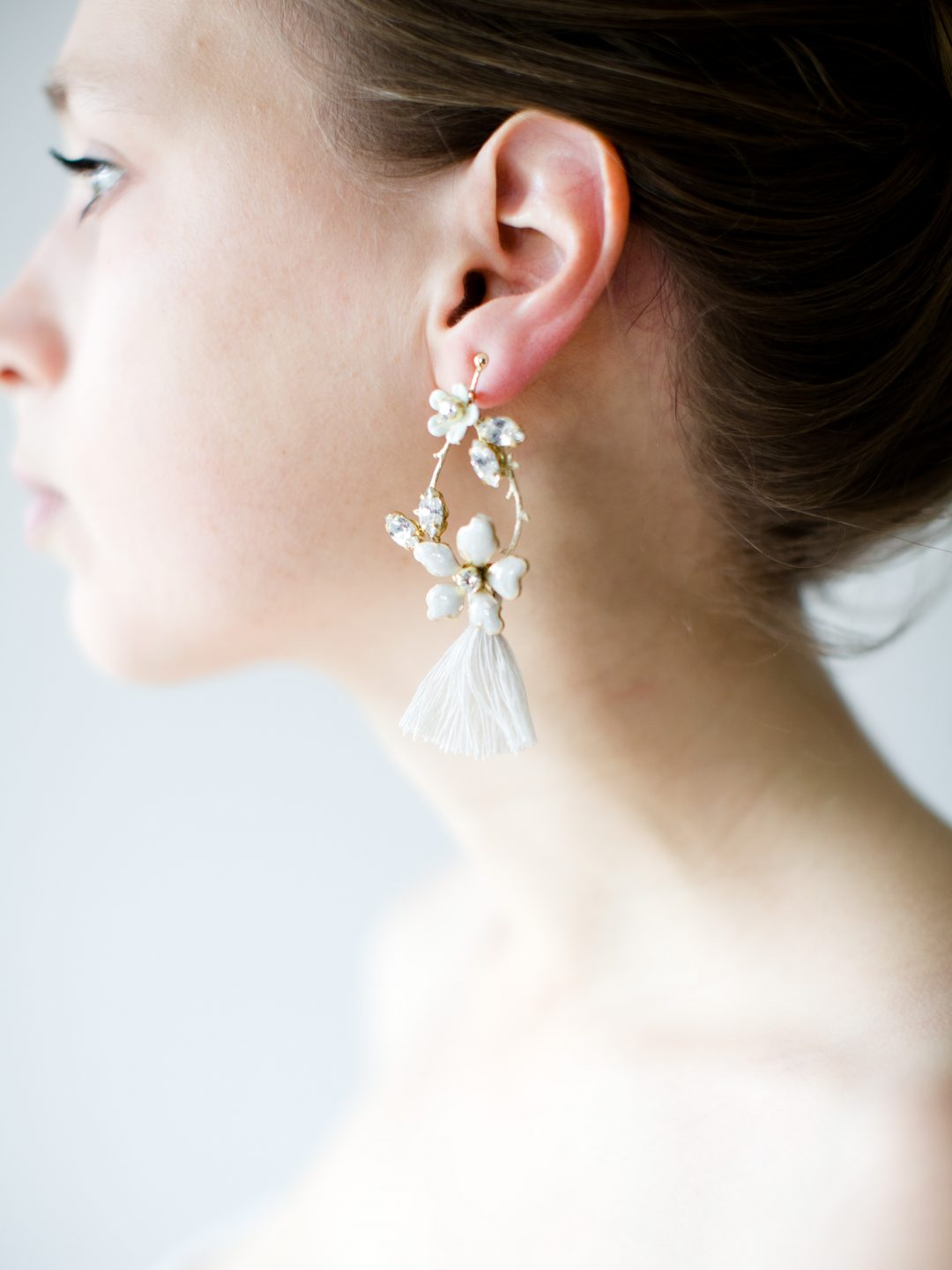 """SIBO Designs 2018 Collection - """"Style 720"""" Floral Chandelier Bridal Earrings www.sibodesigns.com"""