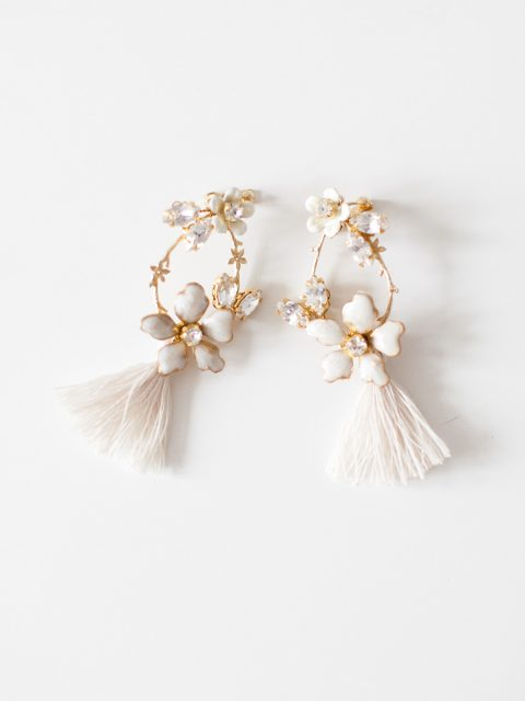 "SIBO Designs 2018 Collection - ""Style 720"" Floral Chandelier Bridal Earrings www.sibodesigns.com"