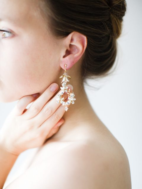 """SIBO Designs 2018 Collection - """"Style 722"""" Crystal Chandelier Bridal Earrings www.sibodesigns.com"""