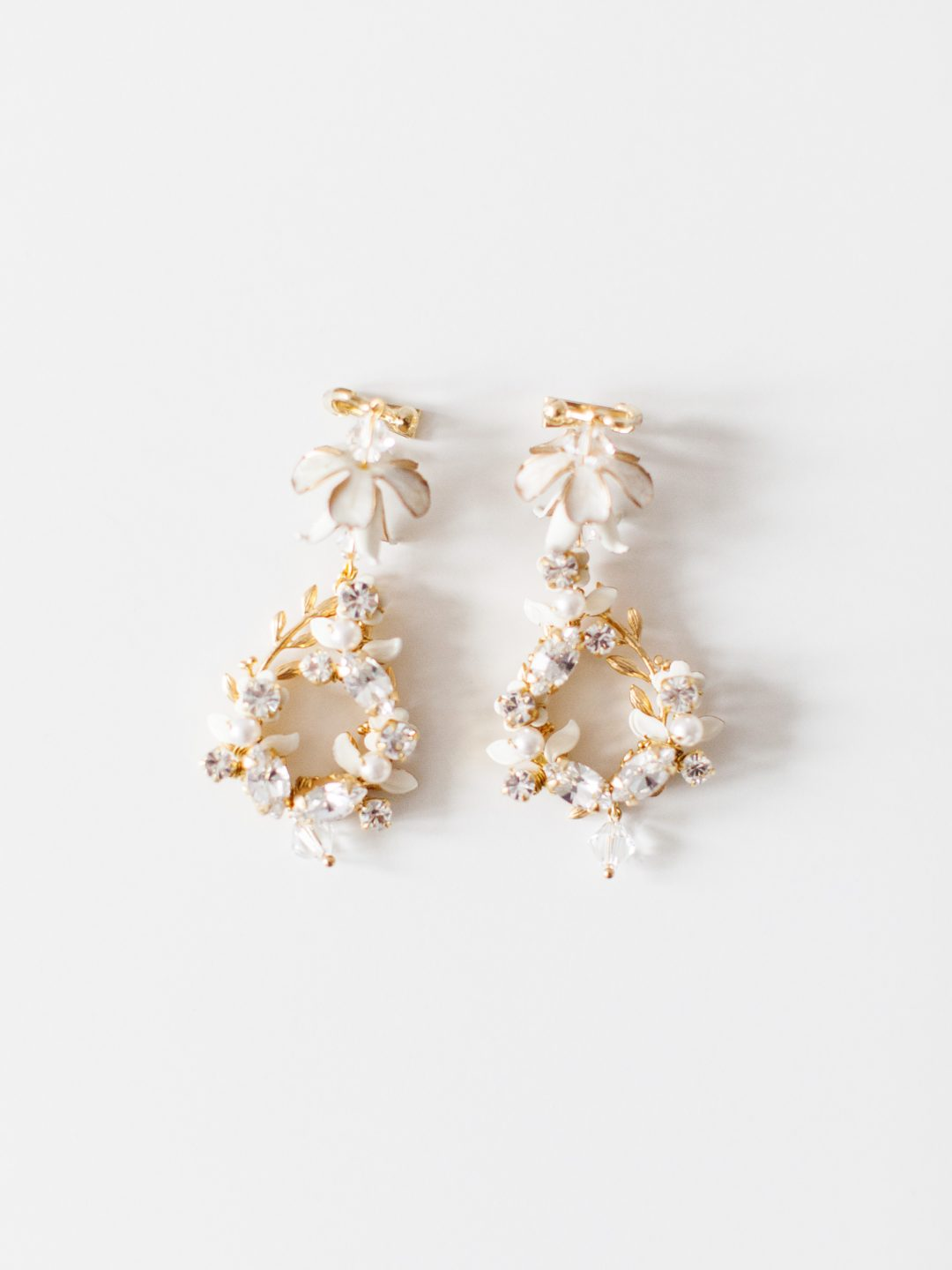 "SIBO Designs 2018 Collection - ""Style 722"" Crystal Chandelier Bridal Earrings www.sibodesigns.com"