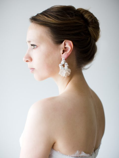 """SIBO Designs 2018 Collection - """"Style 723"""" Opal Crystal Bridal Earrings www.sibodesigns.com"""