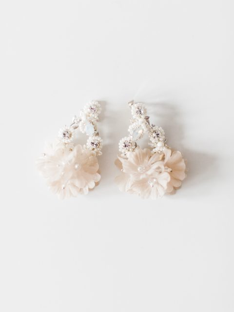 "SIBO Designs 2018 Collection - ""Style 723"" Opal Crystal Bridal Earrings www.sibodesigns.com"