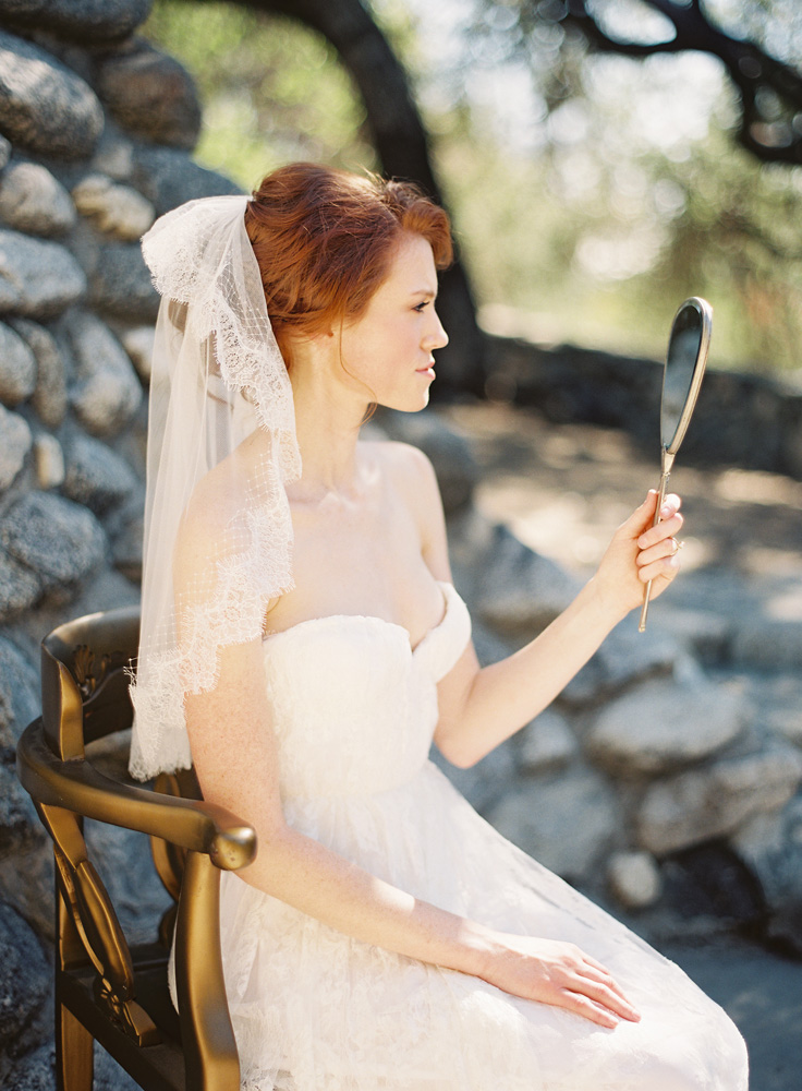 Style 216 Chantilly Lace and Netting Bridal Veil - © SIBO Designs Bridal Adornments & Veils