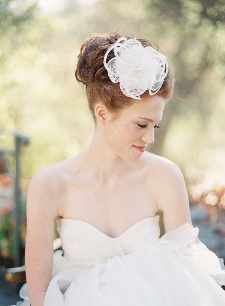Style 212 Lace Bridal Hair Comb - © SIBO Designs Bridal Adornments & Veils