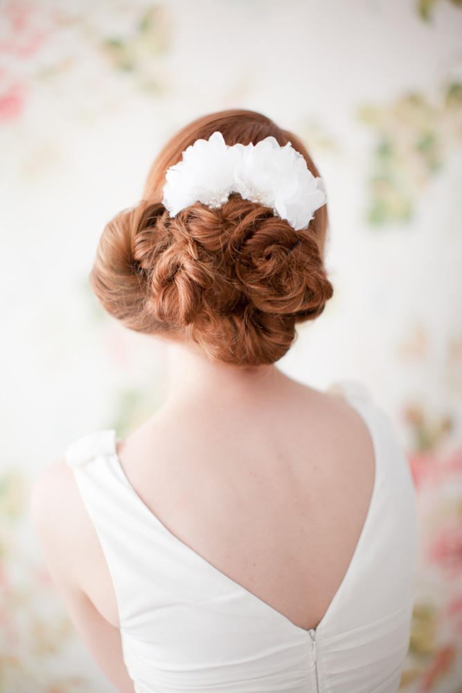 Style 203 Silk Petal Hair Pin set - © SIBO Designs Bridal Adornments & Veils