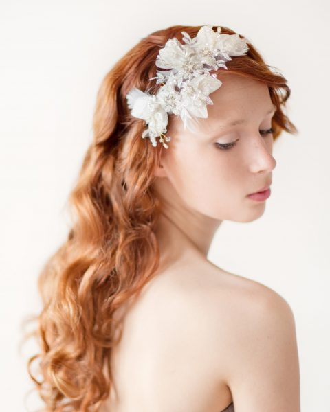 Leaves of Love - Lace Floral Bridal Headpiece - © SIBO Designs Bridal Adornments & Veils