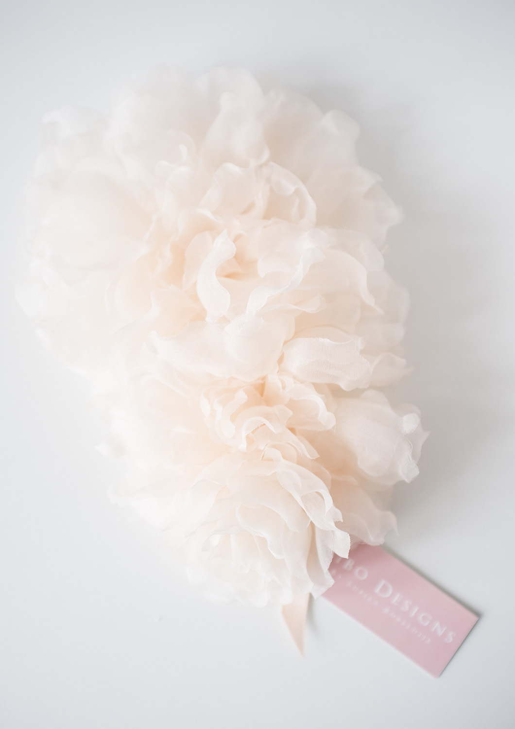 Silk Flower Bridal Hair Comb