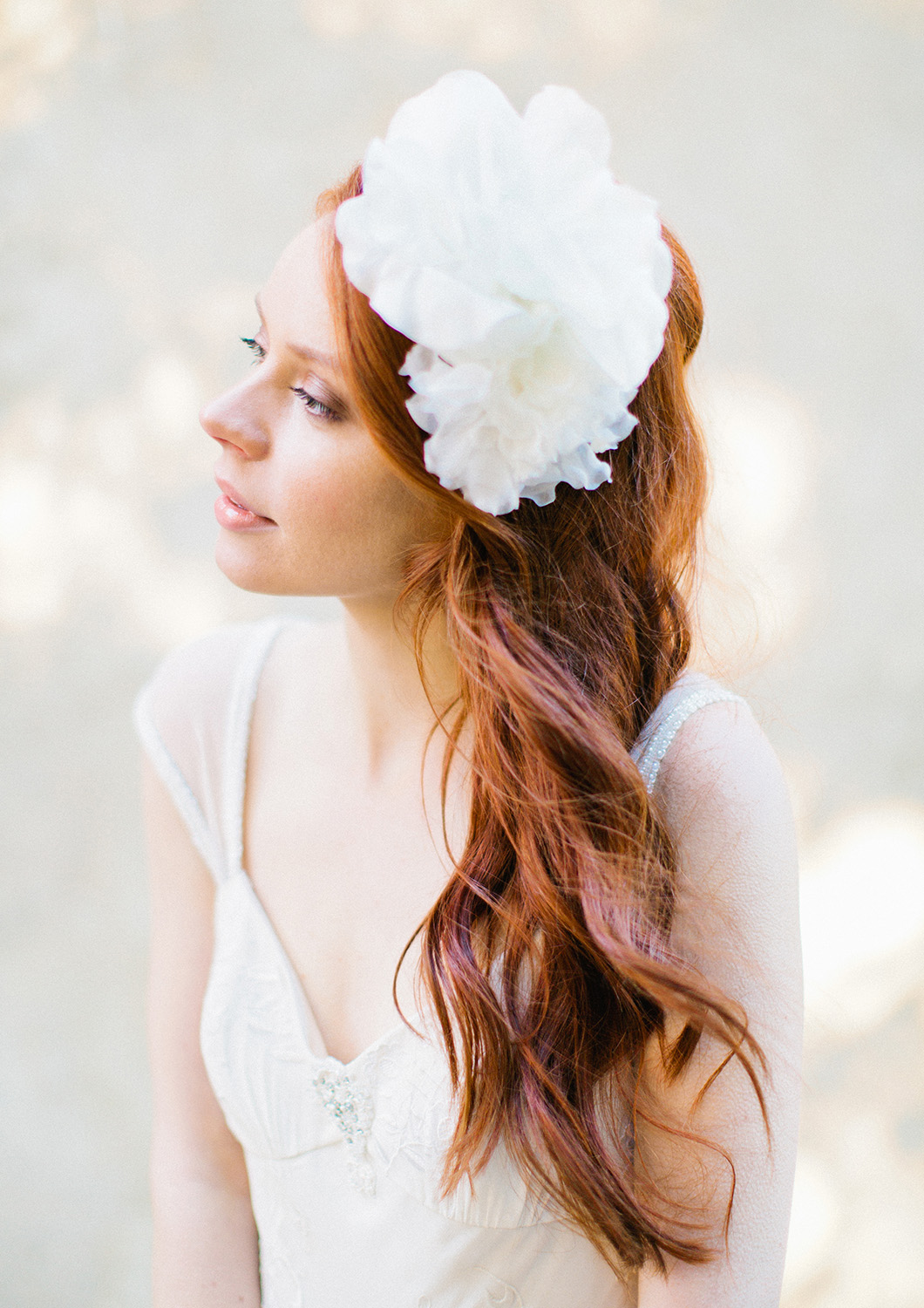 Silk Flower Bridal Headband Sibo Designs