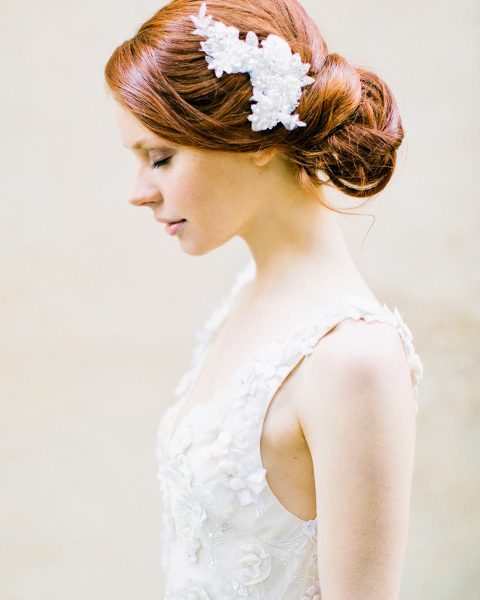 crystal lace floral headpiece