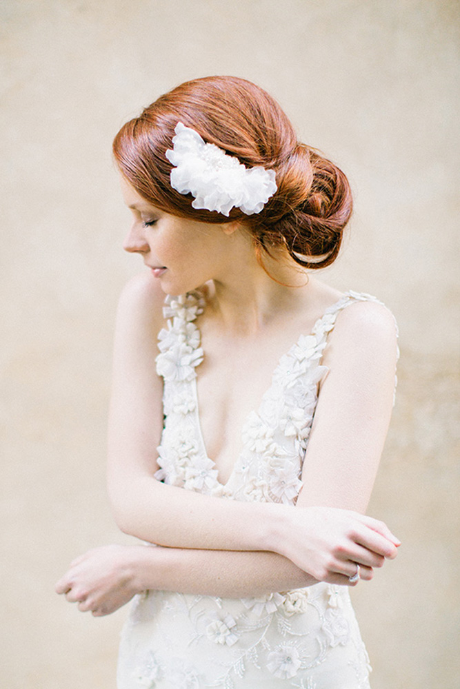 Silk Petal Bridal Headpiece