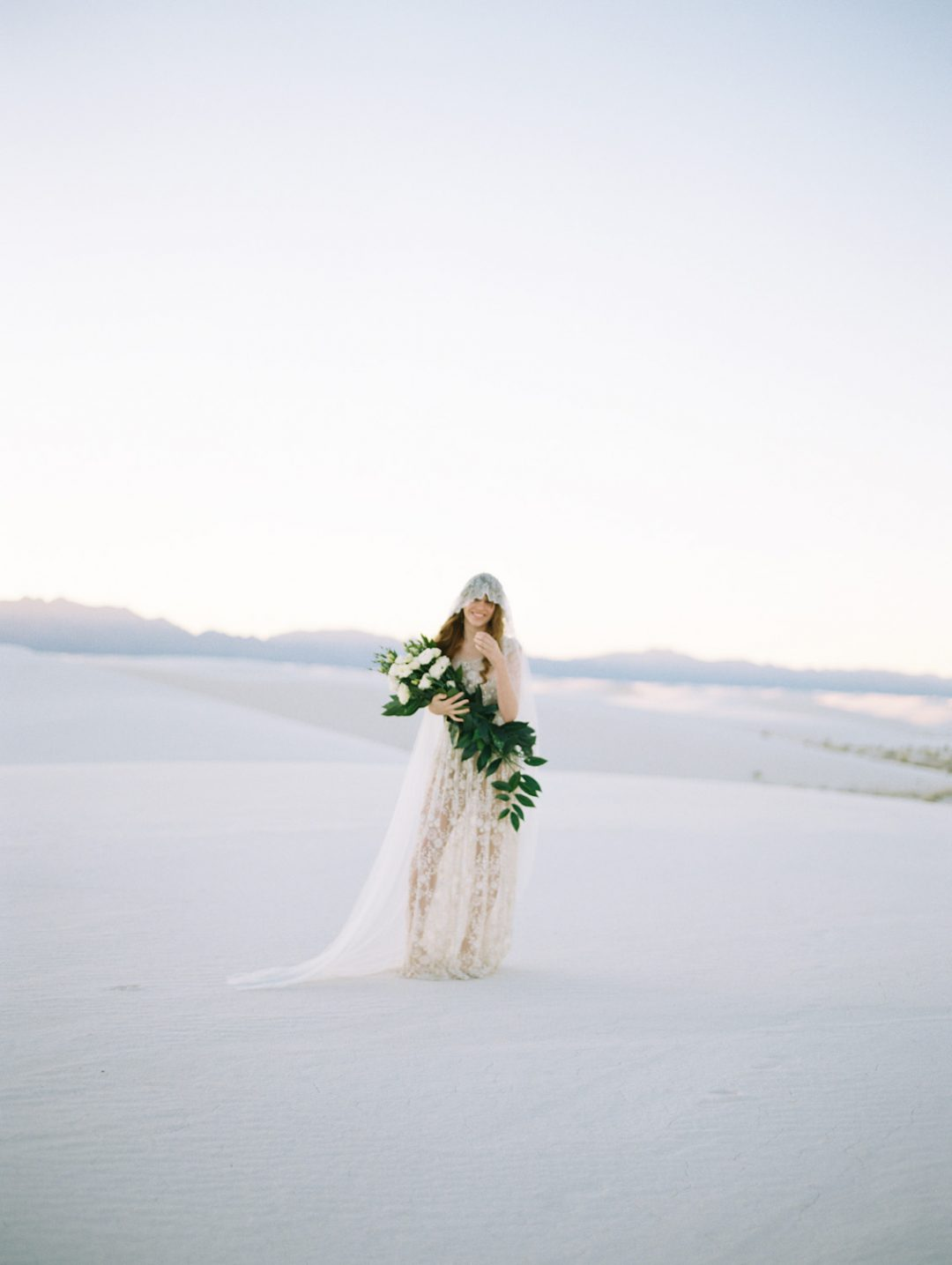 SIBO Designs 2015 Windswept Collection - Style 402 Bohemian French Chantilly Lace Veil