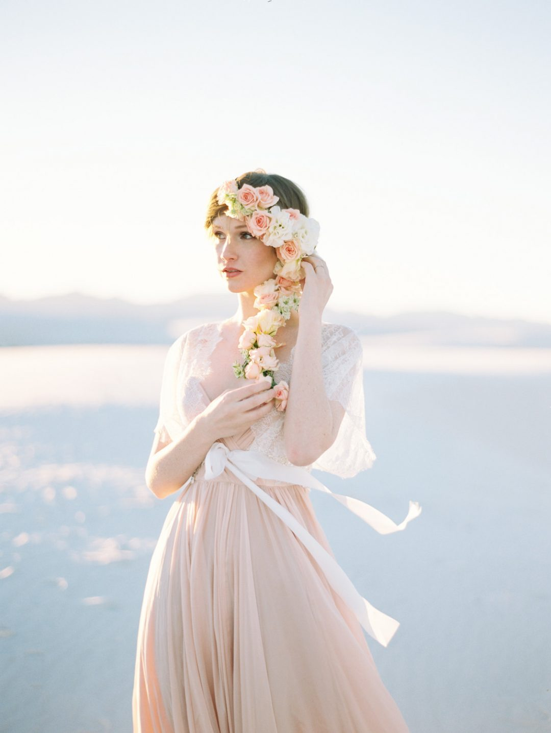 SIBO Designs 2015 Windswept Collection - Style 416 Lace and Pearl Bridal Coverup