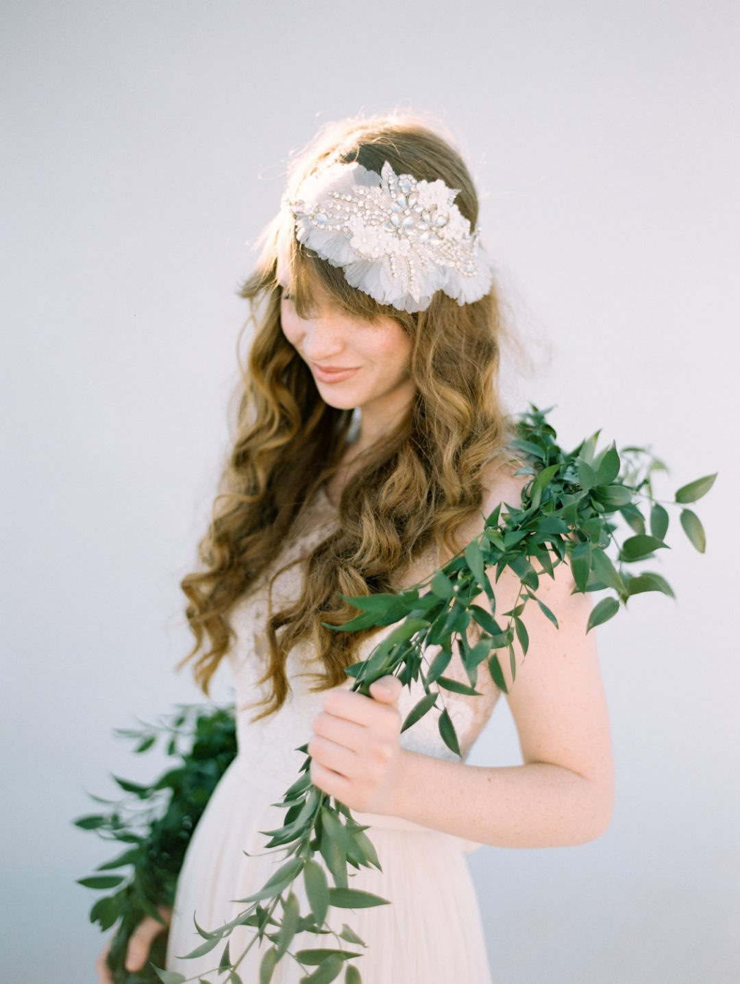 SIBO Designs 2015 Windswept Collection - Style 407 Crystal Applique Flapper Headpiece