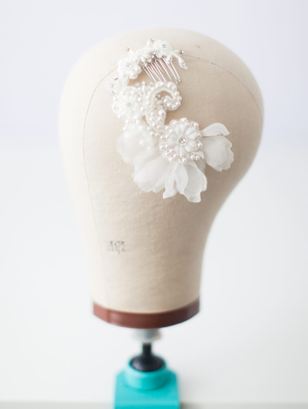 SIBO Designs 2015 Windswept Collection - Style 419 Beaded Lace Bridal Headpiece