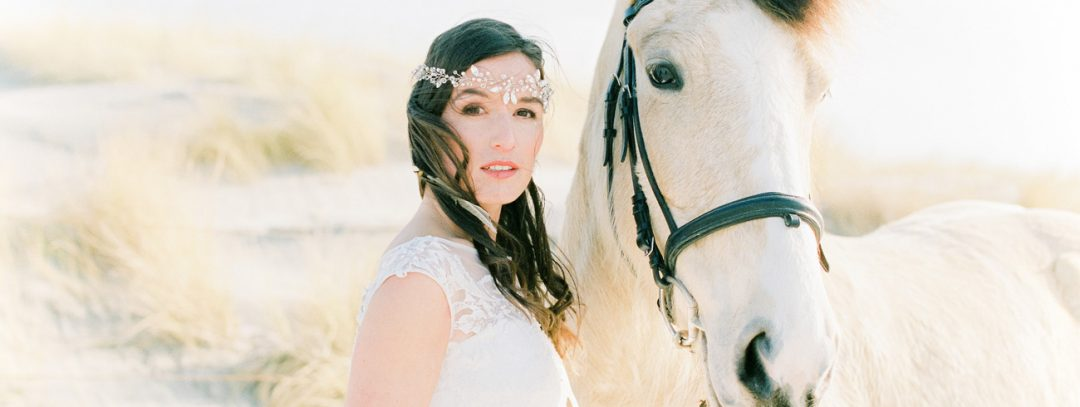 Bohemian Beach Inspirational Wedding Shoot - SIBO Designs Headpiece & Veils
